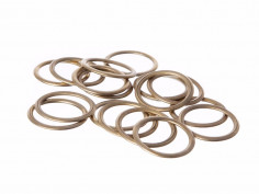 19MM BRASS HOLLOW CURTAIN RINGS
